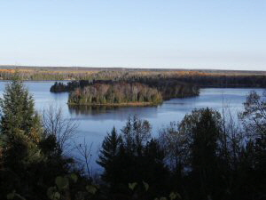 Au Sable River from Lumberman's Monument - 300 x 225
