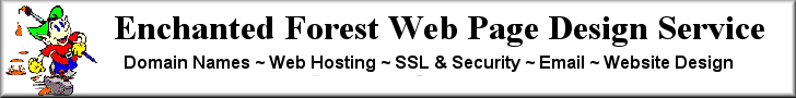 Banner - Enchanted Forest Web Page Design Service 728x90