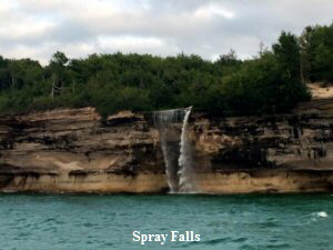 Pictured Rocks Waterfalls - 300x225
